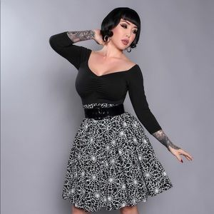 Pinup couture lil Jun skirt in spider web